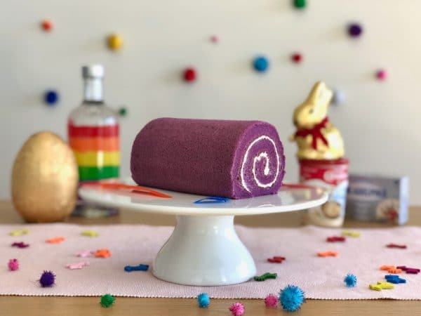 Swiss Roll Ube Filipino Purple Yam Flavour